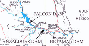 Lower Rio Grande Diversion Dam Locations