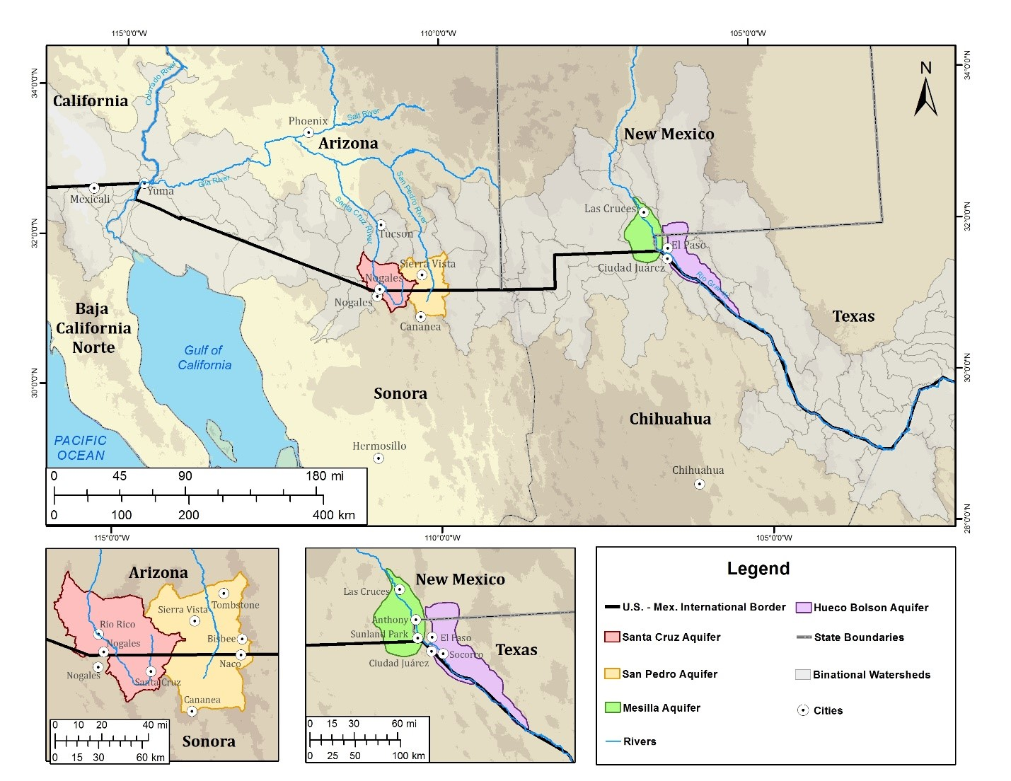 Transboundary Aquifers Along The United States And Mexico Border